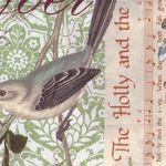 Christmas Birds, Holly, Flourish from Michael Miller 4951-Multi