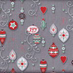 Christmas Wishes By Hoffman Fabrics BQ169 090grey