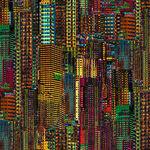 City Dreams A Hoffman Spectrum Print by Hoffman S4787 Color 667 Light Bright.
