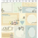 Clothworks Cotton Fabric Lullaby Y1802-58 Light Butter Quilt Labels Baby