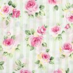 Cosmo Textile Co Roses on Stripe