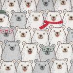 Cubby Bear Flannel by Whistler Studios 51370-6 Polar Bears