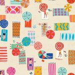 Dashwood Studios Lazy Days by Louise Cunningham Lazy 1750/Cream.