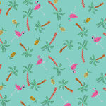 Dashwood Studios Lazy Days by Louise Cunningham Lazy 1755/ Aqua Flamingos.