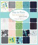 "Day In Paris Jelly Roll by Zen Chic for Moda Fabrics 1680JR Precut 2.5"" x 44"" St"