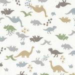 Dinosaur Mini by Handworks Fabric Japanese DH10109S Colour B White