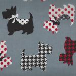 Dotty for Scotty By Greta Lynn for Kanvas Fabrics 7887 Colour Grey - Sweet Scott