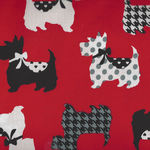 Dotty for Scotty By Greta Lynn for Kanvas Fabrics 7887 Colour Red - Sweet Scotti