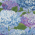 Dragonfly Garden By Color Principle for Henry Glass Fabric 2470 Col.75 Hydrangea