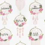 Dream Catchers by Dear Stella Fabrics DS SRR827 White