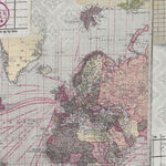 Eclectic Elements by Tim Holtz Memoranda Three PWTH103.Multi. Pattern-World Map.