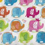 Ellie Elephants by Makower UK Design 2066 Style TP