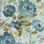 English Country Style MAS9160-B Blue Rose Print by Maywood Studio