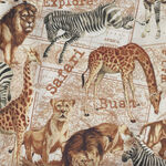 Expedition By Whistler Studios for Windham Fabrics 51631-X Parchment Animals.
