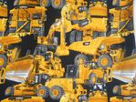 "Fabric Innovations ""Caterpillar Yellow- The Power Edge"" Cotton fabric"