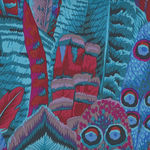 Feathers Fabric by Kaffe Fassett Collective for Free Spirit PWPJ 055 Colour Turq