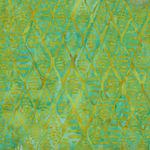 Fern Textiles Batik Code 313Q-6 Aqua/Lime