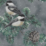 First Snowfall By Hoffman Fabric HS7712 076S Pewter Silver.