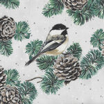 First Snowfall By Hoffman Fabric HS7712 307S Snow Silver.