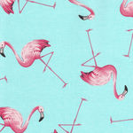 Flamingo for Sevenberry Fabrics 850241 Colour 2 Aqua/Peach Flamingo 4""