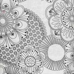 Floral Fantasy by Mouse House with Michael Miller 7221 colour white