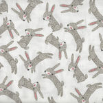 Forest Friends from 3 Wishes Fabrics Bunny White 11664 White