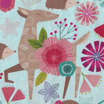Forest Frolic by Northcott Studio Fabrics 23099 Animal Allover Turquoise Multi.