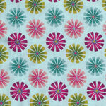 Forest Frolic by Northcott Studio Fabrics 23103 Pinwheels Turquoise Multi.