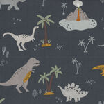 Fossil Rim 2 By Deena Rutter from Riley Blake Designs C8870 Colour Navy-Dinosaur