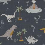 Fossil Rim 2 By Deena Rutter from Riley Blake Designs C8870 Colour Navy-Dinosaur