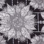 Free Spirit Byzantium Cotton Fabric  PWKM010 Black