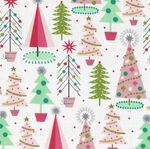 Free Spirit Presents Fa La La by Maude Asbury PWMA012 Patt. Christmas Spruces Wh