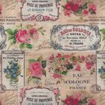 "French Stof Antiquarie 64""(160cms) Wide Cotton Fabric LS8215001/DP Rose"