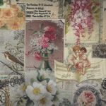 "French Stof Gravure Tile Provence 64""(160cms) Wide Cotton Fabric LS8494001/"