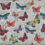 "French Stof Kiara 64""(160cms) Wide Cotton Fabric Butterflies"