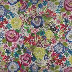 "French Stof Rosebud 64""(160cms) Wide Cotton Fabric LS8493001/DP Multico"
