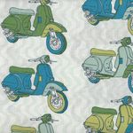 French Vintage Scooters by Fabric Freedom K4036 col 703