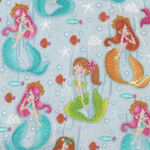 Fun Flannels by Oasis Fabrics QA 443171-092 Mermaids Blue