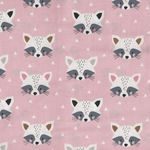 Geo Forest by Dashwood Fabrics 1397 Racoons