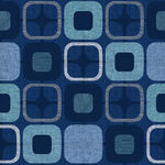 """Geo Square 108"""" Wide Quilt Back from Blank Quilting Corp.Style 9986 Colour 77 Bl"""