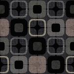 """Geo Square 108"""" Wide Quilt Back from Blank Quilting Corp.Style 9986 Colour 99 Bl"""