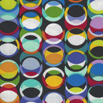Geo-topia By Colour Principle For Henry Glass Fabrics Pattern 2385 Colour 99 Mul