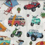 Getaway Vintage Camping Cotton Fabric by Nutex 89510 col 102