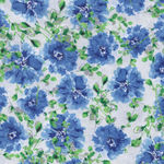 Hancock Fabric Spring Cotton 3025 Blue