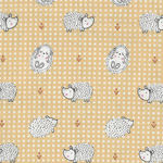 Haori Cotton Fabric M19004-4 Lemon/Hedgehog