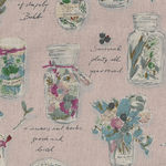 Herbarium Collection by Lecien Cotton/Linen 40988 Colour 20 Pink