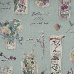 Herbarium Collection by Lecien Cotton/Linen 40988 Colour 70 Duckegg Blue.