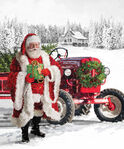 "Here Comes Santa Panel 36""x42"" by Jason Kirk For Northcott Fabrics DP24065 Colou"