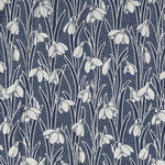 """Hesketh By Liberty Of London 44"""" Cotton 04775656W Navy/White."""