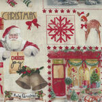 Hivernale 4 Le Quilt French Stof France QUA332004 Rouge Vintage Christmas
